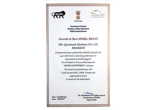 Best MSME Award for Innovation in Technology